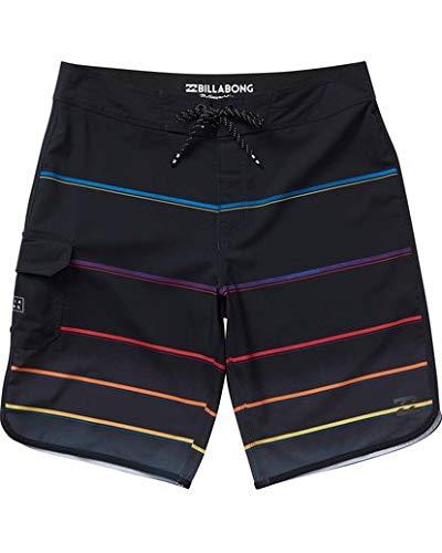 Billabong Men's 73 X Stripe Boardshort, Black, 32 -