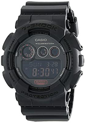 G-Shock GD-120 Military Black Sports Stylish Watch - Black / One Size