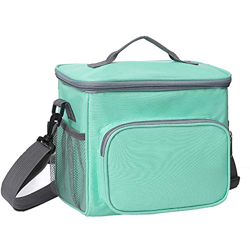 Adult Lunch Box Soft Sided Cooler Bag Insulated Lunch Bag for Women and Men Meal Prep Lunch Box for School Picnic Beach Fishing Boating (Green)
