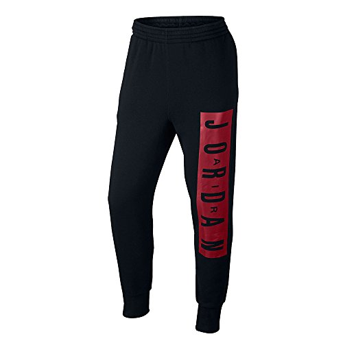 Jordan Air Jordan Jumpman Brushed Graphic WC Pants (XL, Black/Gym Red)