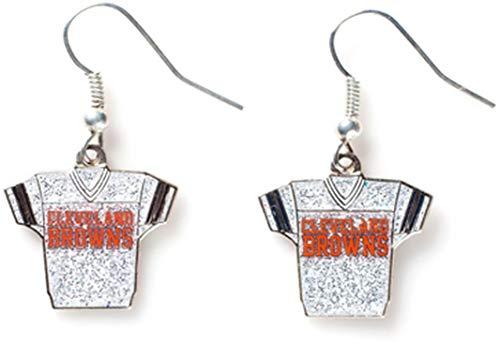 NFL Cleveland Browns Glitter Jersey Earrings ()