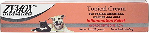 Zymox Topical Cream - Zymox Topical Cream with Hydrocortisone 1.0% for Dogs & Cats, 1-oz tube
