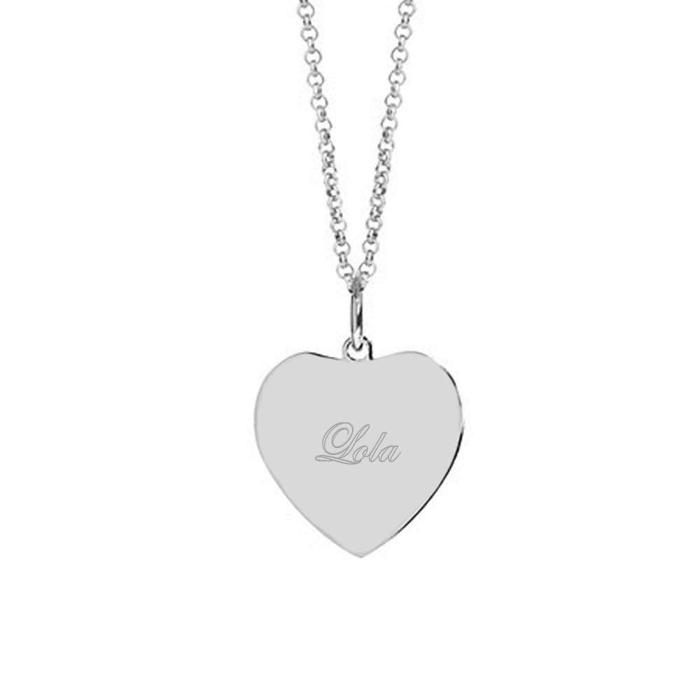 VERSUSWOLF 925 Sterling Silver Personalized Heart Photo Pendant or Custom Made with Any Name or Words