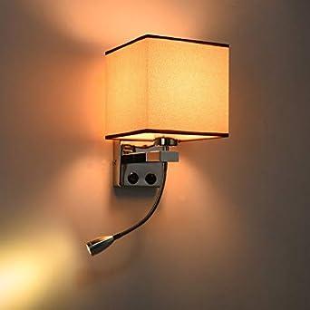 S&shan Lampara de pared, Lámpara de pared LED junto a la cama con interruptor y luz de lectura flexible Cabecera del cabecero PARA Escalera Salón Dormitorio Dormitorio Balcón, B: Amazon.es: Iluminación