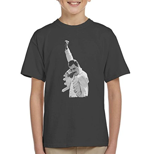 Price comparison product image POD66 Freddie Mercury of Queen Live in Newcastle 1986 Kid's T-Shirt