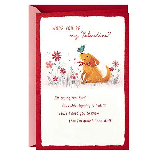 Hallmark Valentines Day Card from the Dog (Woof)