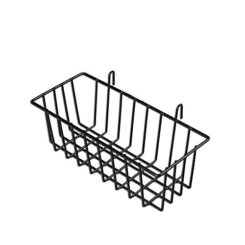 - Surethingz Wire Wall Basket, Grid Basket With Hook, Wall Mount Organizer for Wall Grid , Wire Storage Shelf Rack for Home Supplies, Wall Decor(Black)