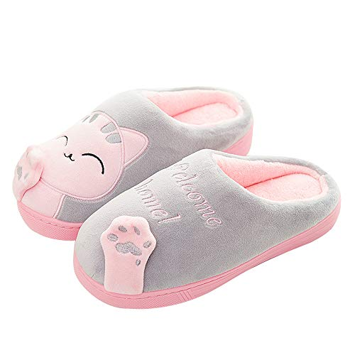 grigio Inverno Scarpe Donna Casa Qzbaoshu Panda Pantofole Gatto 0gUvqt