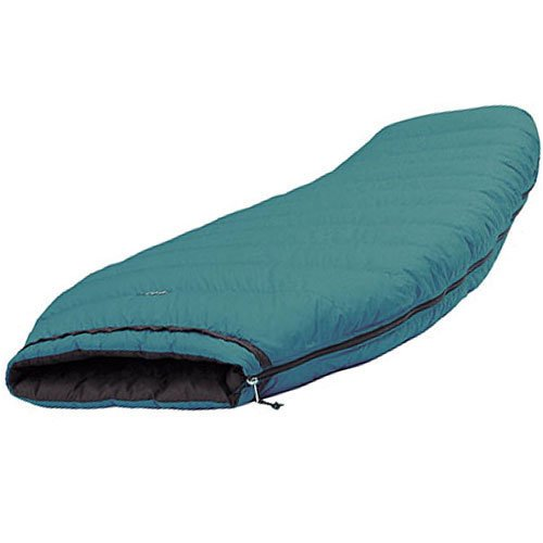 TAIGA Scheherazade 800 European Goosedown Sleeping Bag (choices: -3°C/26.6°F or -9°C/15.8°F), Barrel Style, Green, Including Stuffsack, German Designed, MADE IN CANADA, X-Large (Girth: 70