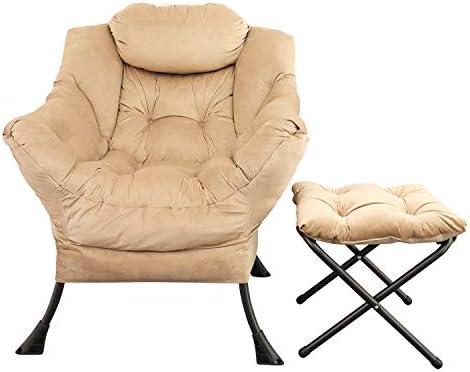 GOLDSUN Velvet Fabric Lazy Reclining Chair Review