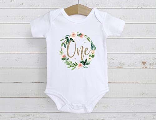 Amazon.com: First Birthday Onesie, One Year Old Birthday ...