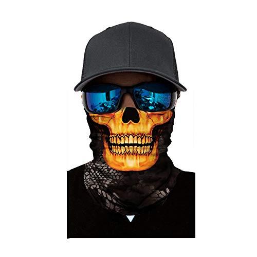 Sunshinehomely Halloween Zombie Skull Print Headkerchief, Cycling Motorcycle