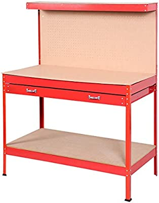 Magnificent Red Work Bench Tool Storage Steel Tool Workshop Table With Beatyapartments Chair Design Images Beatyapartmentscom