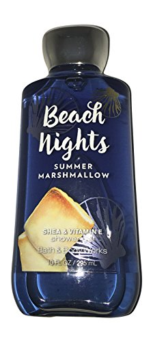 Bath and Body Works Beach Nights Summer Marshmallow Shower Gel Wash 10 Ounce