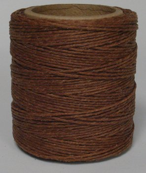 Maine Thread - .040'' Goldbrown Waxed Polycord. 210 feet each. Includes 2 spools. by Maine Thread
