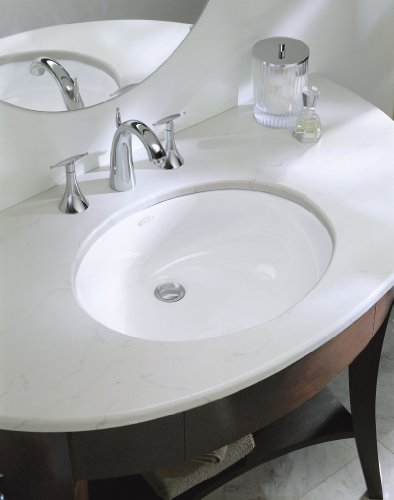 KOHLER K-2210-0 Caxton Undercounter Bathroom Sink, White