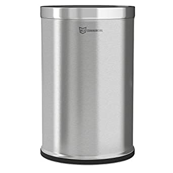 a9487277675 Image Unavailable. Image not available for. Color  HLS Commercial 26 Gallon  Stainless Steel Round Open Top Trash Can