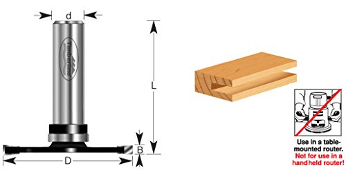Timberline 270-34 Slotting Cutter 3 Wing x 1-7/8 Dia x 3mm Cut Height x 1/2 Inch Shank Router Bit by Timberline