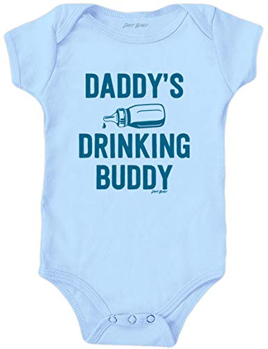 c1859e274 Daft Baby ~ Daddy's Drinking Buddy Funny Baby Onesie Baby Blue (Newborn)