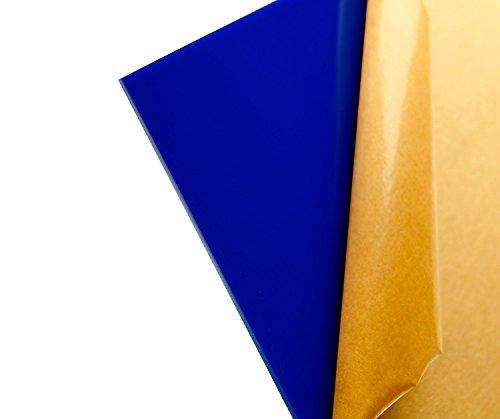 "Cast Acrylic Sheet - .118"" Thick, TL Dark Blue, 12"" x 12"" Nominal"
