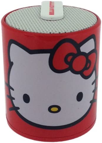 Hello Kitty Licensed Rechargeable Bluetooth Speaker by Zimri Connects to Most Bluetooth Enabled Devices wirelessly