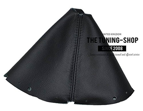 The Tuning-Shop Ltd For Nissan 370Z Z34 2009-2016 Manual Shift Boot Black Leather