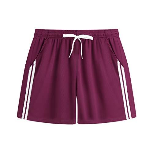 (Landscap_Men Summer Swimwear Shorts Swim Trunks Soft Breathable Casual Athletic Beach Short Pants(Red,XXL))