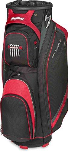 Bag Boy Revolver FX Cart Bag, Black/Red/Silver