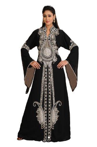 AModestStyles Women's Dubai Abaya Kaftan -Small Black