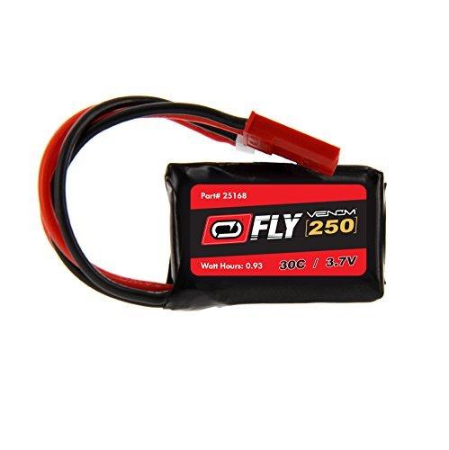 Cam Heli (Heli-Max ISQ V-Cam 30C 1S 250mAh 3.7V LiPo Battery with Micro Losi/JST Plug by Venom)