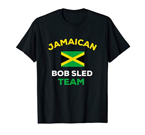 Jamaican Bobsled Team Shirt Jamaica Flag Country Funny