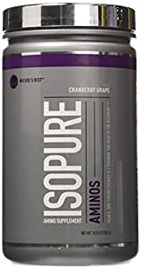 Isopure Amino Supplement, with BCAAs, Essential Amino Acids and L-Theanine, Flavor: Cranberry Grape, 285 Gram