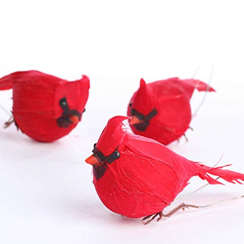 Factory Direct Craft Package of 12 Bright Red Artificial Cardinal -
