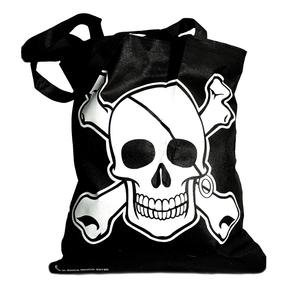 Large Pirate Tote Bag - Halloween Pirate Party Supplies, Party Favor (Graveyard Halloween Ideas)