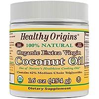 Healthy Origins Organic Extra Virgin Coconut Oil, 16 Ounce