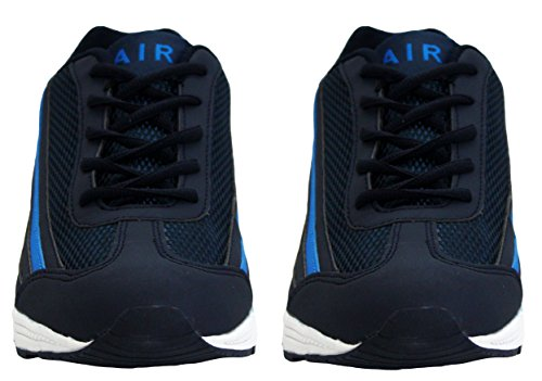 Air Chaussures Sports Fitness Lacets Hommes Absorbantes Uk Tech Sneakers Running Bleu Marine Baskets 7 Tailles 12 dgwUqEU