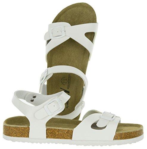 Blanc Confortable Beppi Maison Chaussures Et Fille 36 Femme Pantoufle Semelle pour Slipper Sandals Moderne de Cuir Élégant 41 avec Blanc HqSxHR