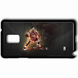 Personalized Samsung Note 4 Cell phone Case/Cover Skin 14805 P G Derrick Rose2 by Gra3viS Black