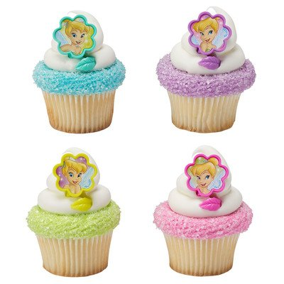 Tinker Bell I Believe in Fairies Cupcake Rings - 24 pc -