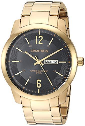(Armitron Men's 20/5309BKGP Day/Date Function Gold-Tone Bracelet Watch)