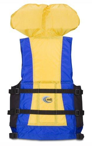MTI Adventurewear Canyon V Rafting PFD (Blue/Yellow, Small/Medium)