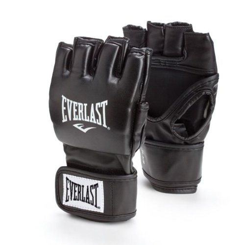 Everlast Train Advanced MMA 4-Ounce Competition Style Grappling Gloves (Black, Large/X-Large)