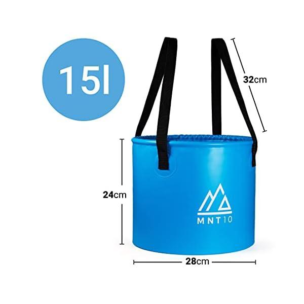 41%2BvOPRUVcS MNT10 Outdoor Falteimer in 15L oder 20L I Faltschüssel aus robustem Planen Gewebe I Als Camping Spülschüssel, Spülwanne…