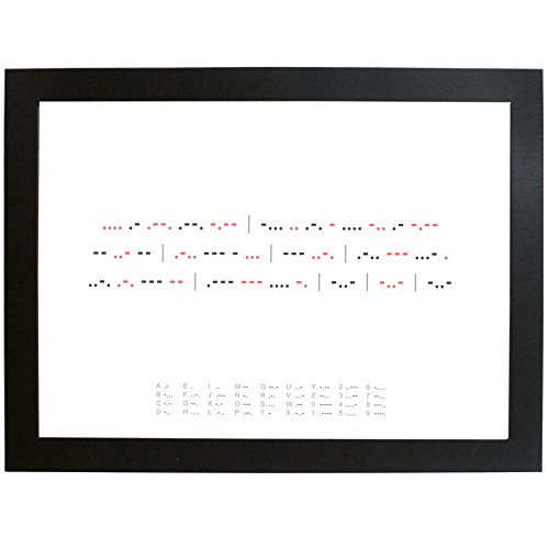 Personalised Morse Code Poster A4 Framed