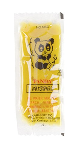 Hot Mustard Sauce Chinese Take Out Condiment Packets (50 Packets) (Chinese Hot Sauce)