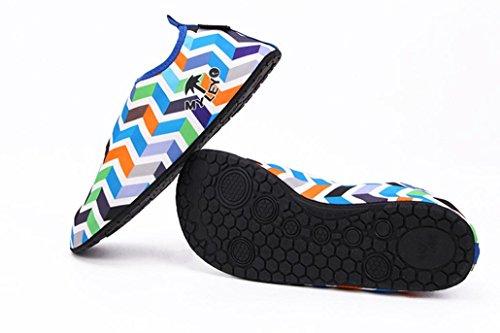 Cocomarket Hombres Mujeres Surf Beach Snorkeling Calcetines De Natación Deporte Natación Zapatos Para Caminar De La Piel Azul