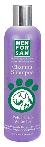 Menforsan MF00463 Shampoo Natural Intensificador, Blanco, para Perros