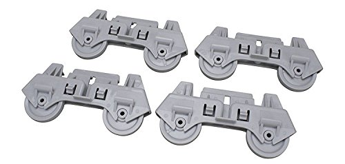 Price comparison product image Dishwasher Lower Rack Roller 4 Pack for Whirlpool,  Sears,  AP3139103,  PS358588,  4317933