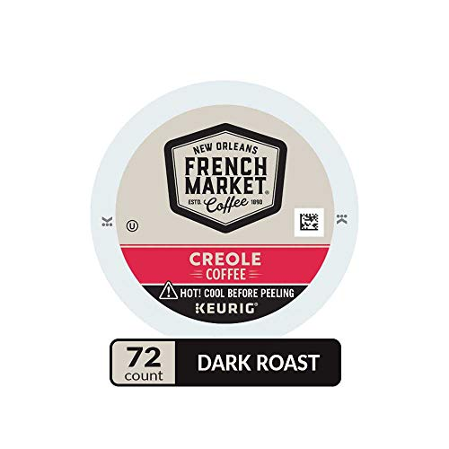 French Market Medium Dark Roast and Chicory Single Serve Cups Coffee, 12 Count (Pack of -