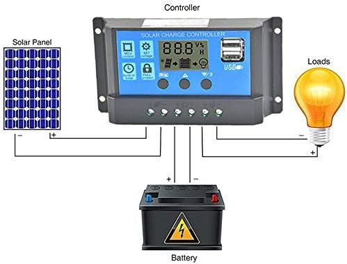 Panel Solar De 10//20//30A USB Controlador Inteligente Regulador de Carga de Batería Nueva